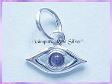 CHA64 Evil Eye Charm, For Protection - Amethyst VRS