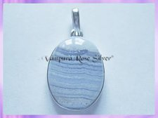 17015 Plain Blue Lace Agate Pendant