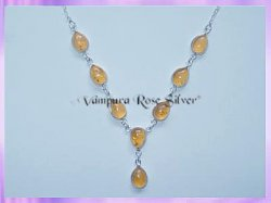 SGN3 Teardrop Amber Necklace
