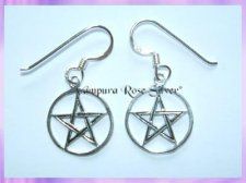 C7-4 Pentagram Earrings (Medium)