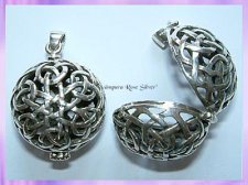 CP16-31 Celtic Crystal Locket Pendant - VRS