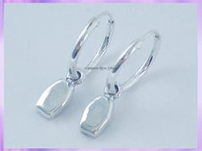 CHA79H2 Coffin Hoop Earrings - VRS