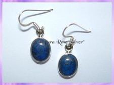 22075 Oval Lapis Earrings (Med)