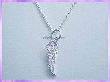 AWP1NS Angel Wing Necklace - Double Sided - VRS