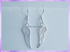 AWE1 Angel Wing Earrings - Double Sided