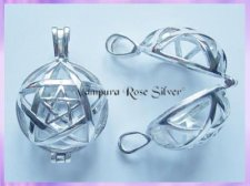 N1992 Silver Pentagram Crystal Locket - VRS