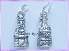 CHA71 Viking Lewis Chessmen Charm - King - VRS