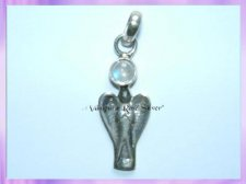 11043 Angel pendant with Rainbow Moonstone Gemstone
