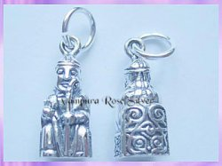 CHA73 Lewis Chessmen Charm - Bishop - VRS