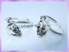 C7-1H2 Hoop Skull Earrings (Pair) - VRS