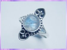 RS19 Rainbow Moonstone Planchette Ring