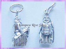 CHA74 Lewis Chessmen Charm - Knight - VRS
