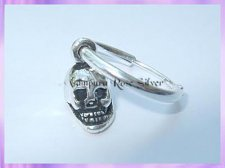 C7-1H Hoop Skull Earring (Single) - VRS