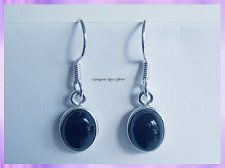 ER4 Oval Black Onyx Earrings