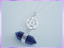 RS22PN Amethyst and Pentagram Necklace - VRS