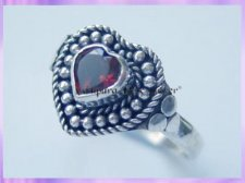 HR2 Garnet Love Heart Ring