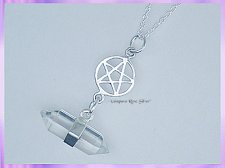 RS22PN Quartz Crystal and Pentagram Necklace - VRS