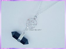 RS22PN Black Onyx and Pentagram Necklace - VRS