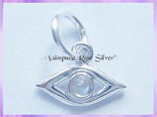 CHA63 Evil Eye Charm, For Protection - Rainbow Moonstone VRS