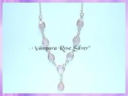 SGN3 Teardrop Rose Quartz Necklace