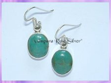 22075 Oval Turquoise Earrings (Med)