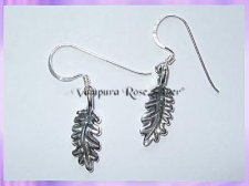 CHA23E Oak Leaf Earrings (Double Sided)