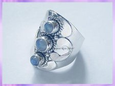 RS13 Rainbow Moonstone Ring