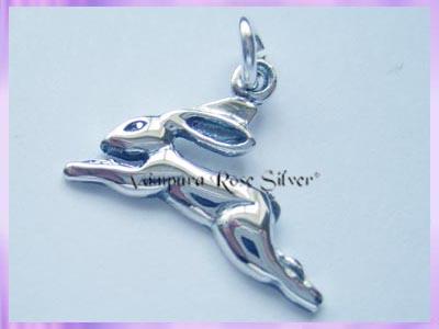 Silver Hare Charm Bangle